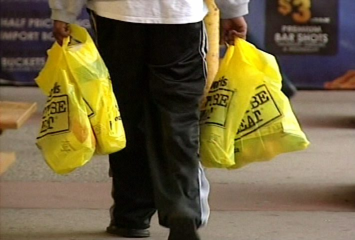 The plastic bag ban will take effect on July 1.