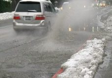 Winter is coming: Snow on the way to Vancouver Island