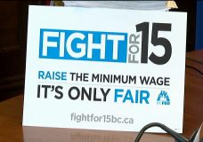 Public hearing in Victoria to discuss increasing the hourly minimum wage