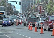 Construction leads to traffic chaos downtown Victoria