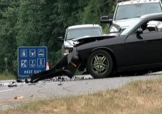 A motor vehicle crash on Highway 19 in June 2017. File photo.