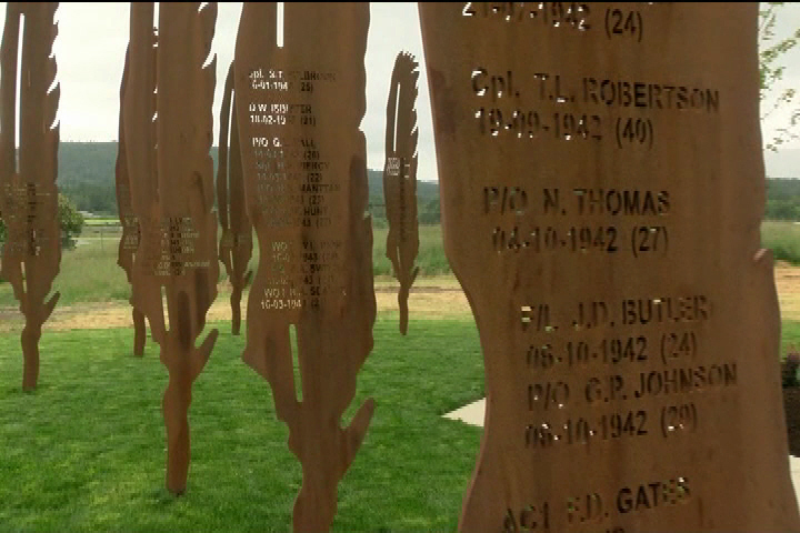 WWII Airmen killed in training honoured with monument at Victoria Airport