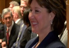 Christy Clark sworn in as premier of B.C. minority government, the first since 1952