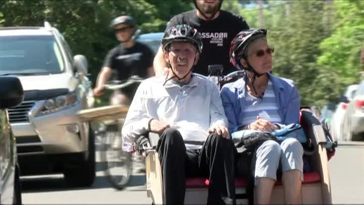 Cycling Without Age brings free bike rides to seniors in Victoria