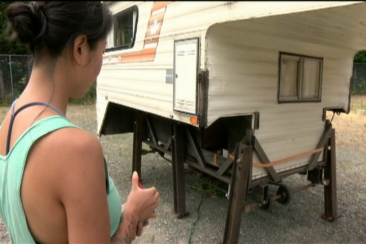 Victoria woman turns old camper into art