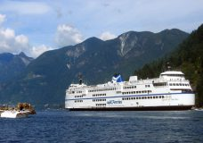 Sailings delayed after anti-mask protesters become verbally abusive aboard ferry to Horseshoe Bay