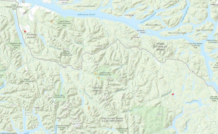 Two wildfires in northern Vancouver Island believed to be human-caused