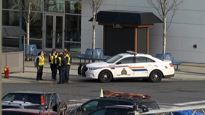 Police at Departure Bay following a death on the Queen of Oak Bay on Nov. 27. File photo.