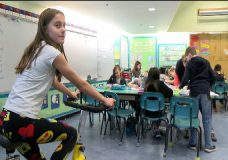 Exercise bikes put in Saanich elementary school aim to keep kids focused