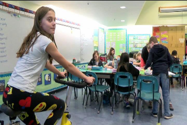 Exercise bikes put in Saanich elementary school aim to keep kids focused