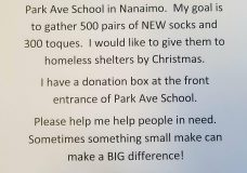 Grade 7 student in Nanaimo looks to spread real warmth this holiday season