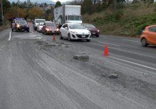 Concrete spill on Blanshard Street causes traffic delays
