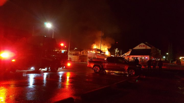 Reports of explosions and flames lead Nanaimo fire crews to engulfed boat