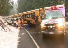 Police say 'miraculous' no one seriously hurt in Shawnigan school bus crash