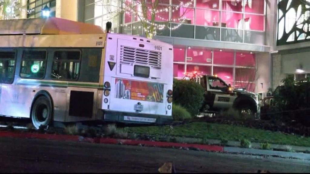 UPDATED WITH VIDEO: One injured in BC Transit bus crash near Uptown Shopping Centre in Saanich