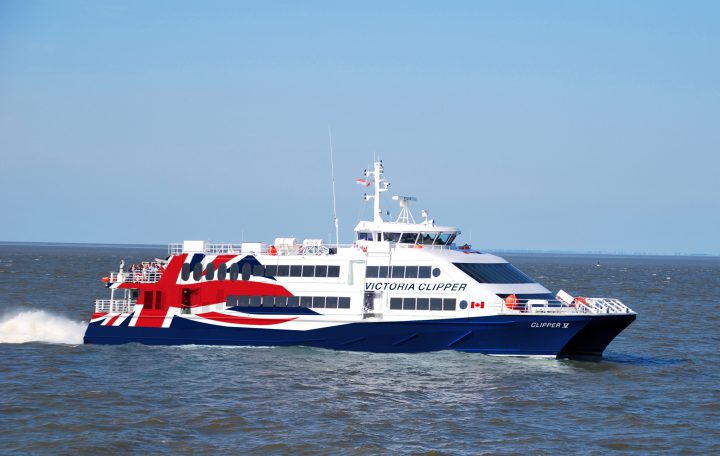 The new Clipper V vessel that will serve Seattle to Victoria in the spring. File photo, courtesy Clipper.