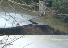 Nanoose Bay woman recounts her car falling into a washout in the road