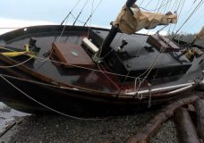 Weekend storm beaches several vessels in Sidney, Saanich