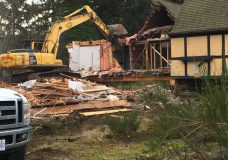 The Colwood Pub being demolished on Jan. 10.