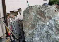 Boulder rolls into side of Langford womans house in 'freak' construction accident