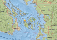 The location of the earthquake. Photo courtesey of USGS