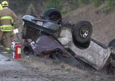Fatal single vehicle rollover near Black Creek Thursday morning
