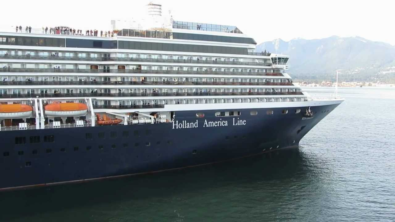 MS Westerdam, measuring 936 feet and carrying more than 1,800 passengers, is scheduled to arrive at Ogden Point at 1 p.m. Wednesday. It is the first of more than 245 ships scheduled to arrive in the 2018 cruise season in Victoria. Photo courtesy Youtube.