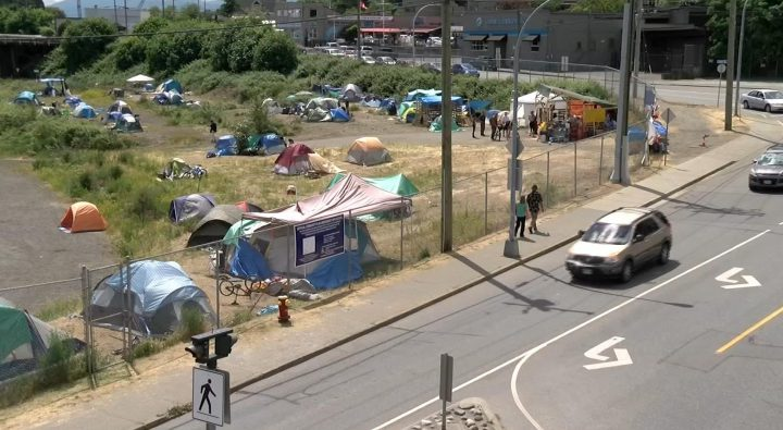 Homeless, who are camping on Nanaimo lot, not sure what will happen eviction day