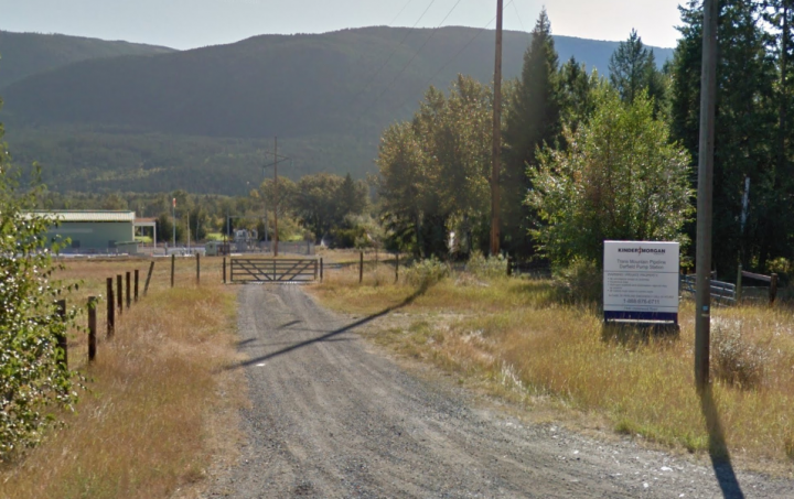 The Trans Mountain site in Darfield (Google)