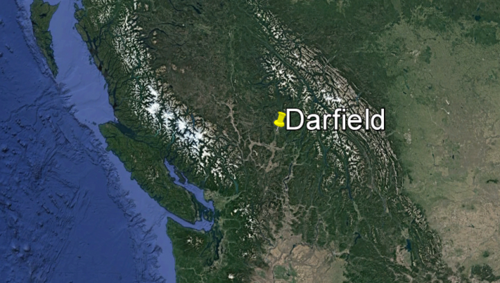 The Ministry of Environment and Climate Change Strategy confirmed the spill was in Darfield B.C. (Google)