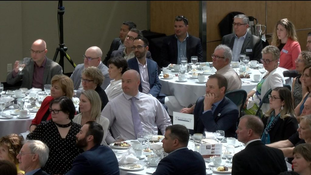 Tough crowd greets Premier John Horgan at the Greater Victoria Chamber of Commerce luncheon