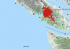 Vancouver Island hit with more than 250 tiny tremors over 24 hours