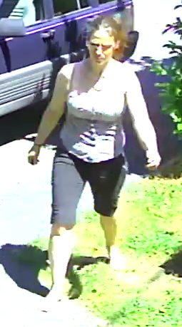 Female suspect of a theft of tools in the 1400-block of Waddington Avenue Monday morning.