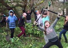 Strawberry Vale Elementary students help with habitat restoration