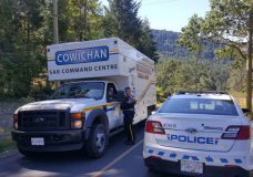 Cowichan Search and Rescue join RCMP to look for Gladys Barman on July 11, 2018.