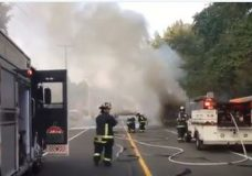 Motor home destroyed in fire near CFB Comox