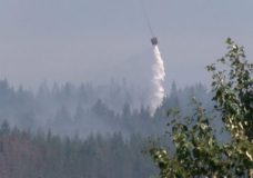 Water being dropped on the Nanaimo Lakes wildfire Wednesday.