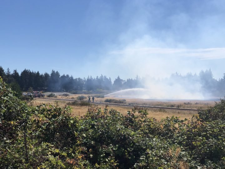 Brush fire in Colwood extinguished
