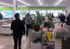 Customers filled the new ReStore in Saanich Saturday.