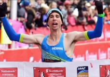 Local marathon runner breaks national record