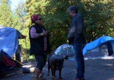 Owner of Saanich property where homeless campers are tenting changes mind, befriends them