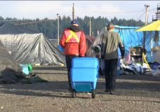 Teardown of Nanaimo tent city begins as homeless are relocated