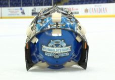 The man behind the painting of the Victoria Royals goalie masks