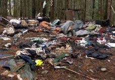Illegal dump found in woods near Parksville