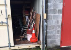 The Seacan that was broken into this weekend Photo: Dashwood Fire Department)