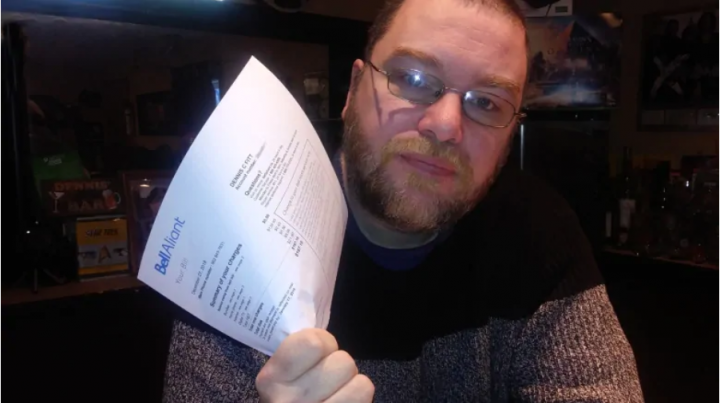 Dennis Fitt, of Truro, N.S., was unhappy to discover that his internet, TV and phone service with Bell Aliant is going up by $9 next month, as three of the big telcos once again raise their prices on certain internet plans. (Andy Fitt)