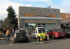 Pipeline protesters gather outside John Horgan's constituency office