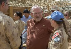 Esquimalt-Saanich-Sooke MP Randall Garrison meeting with Canadian personnel in Mali (Photo: Government of Canada)