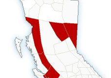 Snowfall warning ends for east Vancouver Island