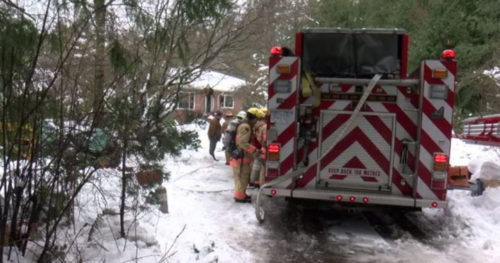 Saanich firefighters extinguished a house fire on Elkwood Drive on Feb. 15, 2019.